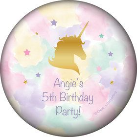 Unicorn Sparkle Personalized Button (Each)