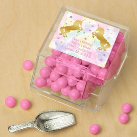 Unicorn Sparkle Personalized Candy Bin with Candy Scoop (10 Count)