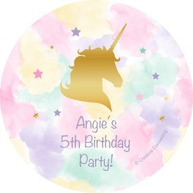 Unicorn Sparkle Personalized Stickers (Sheet of 12)