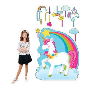 Unicorn Standee with Rainbow and Photo Props