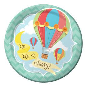 "Up, Up, & Away 7"" Cake Plates (8 Count)"