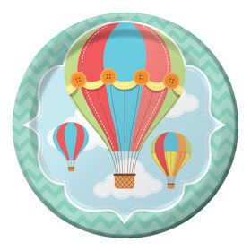 "Up, Up, & Away 9"" Lunch Plates (8 Count)"