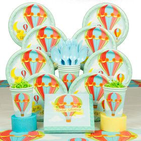 Up, Up & Away Baby Shower Deluxe Tableware Kit (Serves 8)