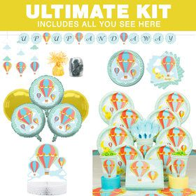 Up, Up & Away Baby Shower Ultimate Tableware Kit (Serves 8)