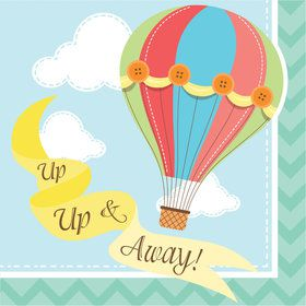 Up, Up, & Away Beverage Napkin (16 Count)
