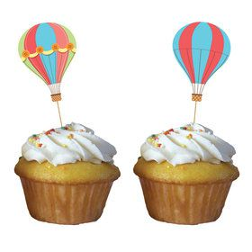 Up, Up, & Away Cupcake Toppers