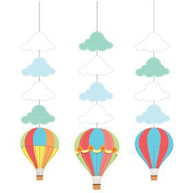 Up, Up, & Away Hanging Decorations (3 Count)