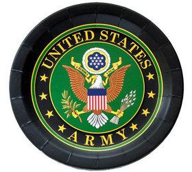 "US Army Plate with Crest -9"" (8)"