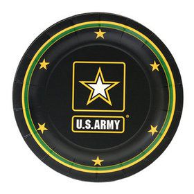 "US Army Plate with Logo -7"" (8)"