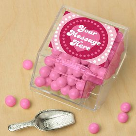 Valentine Hearts Personalized Candy Bin with Candy Scoop (10 Count)