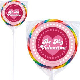Valentine Hearts Personalized Lollipops (12 Pack)