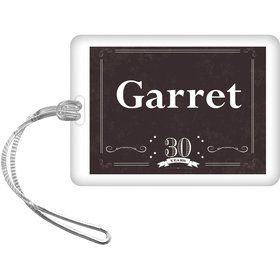 Vintage Dude 30 Personalized Bag Tag (Each)