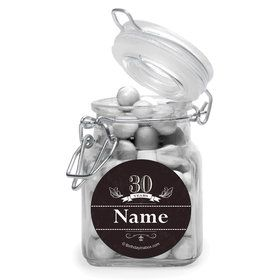Vintage Dude 30 Personalized Glass Apothecary Jars (10 Count)