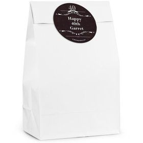 Vintage Dude 40 Personalized Favor Bags (12 Pack)