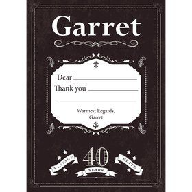 Vintage Dude 40 Personalized Thank You (Each)