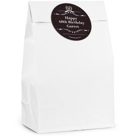 Vintage Dude 60 Personalized Favor Bags (12 Pack)