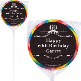 Vintage Dude 60 Personalized Lollipops (12 Pack)
