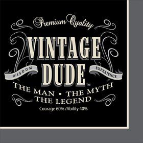 Vintage Dude Luncheon Napkins (16 Pack)