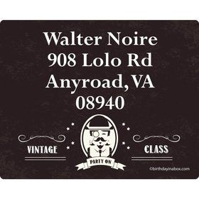 Vintage Dude Personalized Address Labels (Sheet of 15)