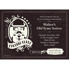 Vintage Dude Personalized Invitation (Each)