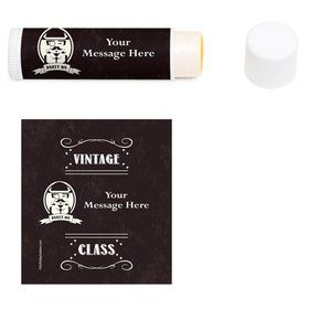 Vintage Dude Personalized Lip Balm (12 Pack)