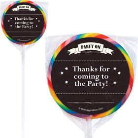 Vintage Dude Personalized Lollipops (12 Pack)