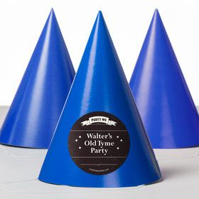 Vintage Dude Personalized Party Hats (8 Count)
