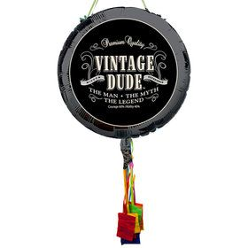 Vintage Dude Pull String Economy Pinata