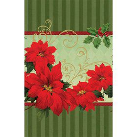 Vintage Poinsettia Table Cover (Each)