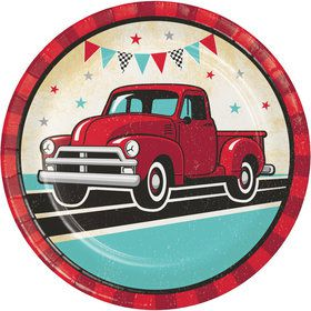 Vintage Truck Lunch Plates (8)