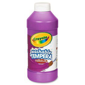 Violet (Purple) 16 oz washable tempera paint plastic squeeze bottle