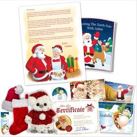 Visiting the North Pole With Mrs. Claus Personalized Santa Letter (Platinum)
