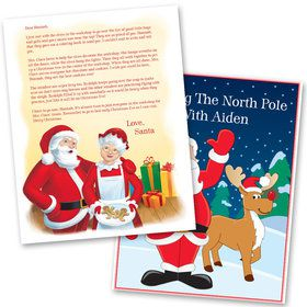 Visiting the North Pole with Mrs. Claus Personalized Santa Letter (Silver)