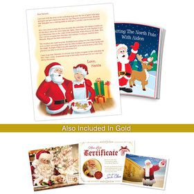 Visiting the North Pole With Mrs. Claus Personalized Santa Letter (Gold)