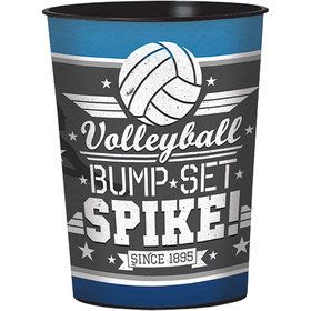 Volleyball 16oz Plastic Favor Cup (Each)