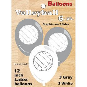 Volleyball Latex Balloons (6)