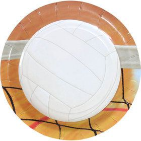"""Volleyball Party Plates - 7"""" (8)"""
