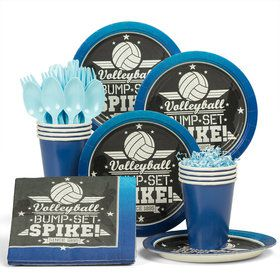 Volleyball Standard Tableware Kit (Serves 8)