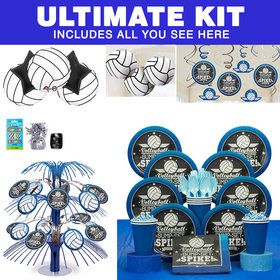 Volleyball Ultimate Tableware Kit (Serves 8)