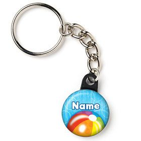 "Water Fun Personalized 1"" Mini Key Chain (Each)"