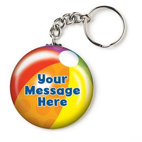 "Water Fun Personalized 2.25"" Key Chain (Each)"