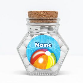 "Water Fun Personalized 3"" Glass Hexagon Jars (Set of 12)"