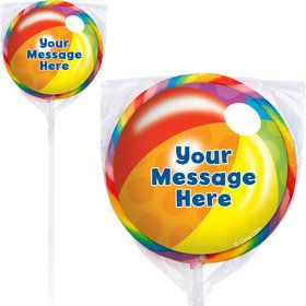 Water Fun Personalized Lollipops (12 Pack)