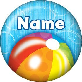 Water Fun Personalized Mini Button (Each)