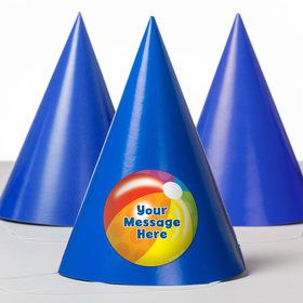 Water Fun Personalized Party Hats (8 Count)
