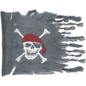 Weathered Pirate Flag Decoration (Each)