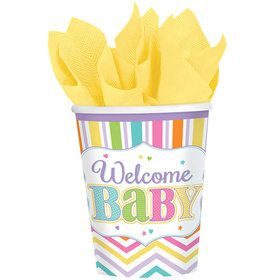 Welcome Baby 9oz Cups (18 Count)