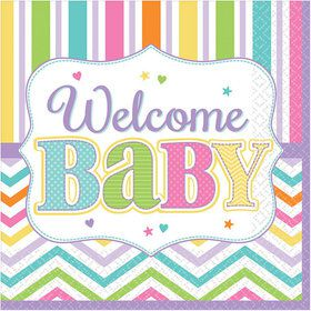 Welcome Baby Beverage Napkins (36 Count)