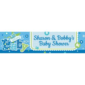 Welcome Baby Boy Personalized Banner (Each)