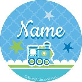 Welcome Baby Boy Personalized Mini Stickers (Sheet of 24)